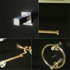 Swarovski bathroom accessories Maharani Tile