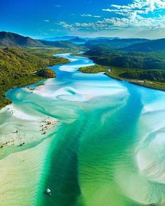 A scenic flight over Australia's Great Barrier Reef and spectacular Whitehaven Beach is the best way to experience a Whitsunday Islands tour. Whitehaven Beach Australia, Queensland Australia, Brisbane Queensland, Coast Australia, Australia Photos, Australia Travel, Visit Australia, Western Australia, Wonderful Places