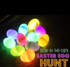 Glow in the dark Easter eggs !!