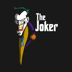 Joker t-shirt by Antonio Barbadifuoco aka Firebeard. THE JOKEFATHER is a Godfather parody t-shirt for fans of Batman villain, Joker. Joker Animated, Batman The Animated Series, Joker Batman, Joker Foto, 3 Jokers, Joker Kunst, Joker Und Harley Quinn, Joker T Shirt, Joker Pics
