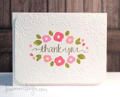 MACM - Thank You (Diffuser Embossing), by Kristina Werner.  Love it!