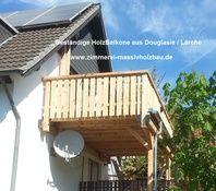 Holzbalkon Montage - Gerne auch inkl. Vorbereiten der Baugenehmigung - Info http://www.zimmerei-massivholzbau.de/holzbalkone.html
