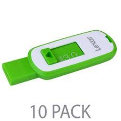 (10-Pack) Lexar JumpDrive S23 32GB SuperSpeed USB 3.0 Flash Drive (Green)