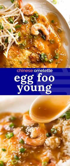 Egg Foo Young is a fluffy Chinese egg omelette filled with vegetables and pork or shrimp, smothered in a tasty Chinese Sauce. Egg Foo Young (Chinese Omelette) Sherry Hepper myseven Asian Egg Foo Young is a fluffy Chinese egg omelette filled with ve Easy Chinese Recipes, Asian Recipes, Healthy Recipes, Ethnic Recipes, Healthy Food, Hawaiian Recipes, Chinese Vegetables, Mixed Vegetables, Veggies