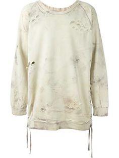 Langes Sweatshirt im Used-Look