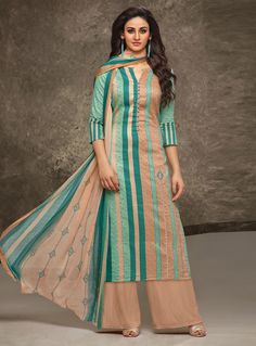 Check out the online collection of Salwar Kameez in the Catalog 7557 at Indian Cloth Store. Get Catalog 7557 of Salwar Kameez in various designs, colors & sizes. Kurti Back Neck Designs, Simple Kurta Designs, Kurti Sleeves Design, Sleeves Designs For Dresses, Palazzo Style, Palazzo Suit, Indian Ladies Dress, Indian Wear, Designer Blouse Patterns