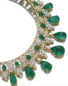Emerald and diamond necklace, Van Cleef & Arpels.