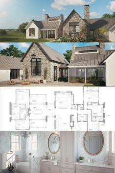 Ferrandaise House Plan! farmhouse house plan, european farmhouse, european farmhouse style, farmhouse design, european farmhouse exterior, farmhouse front, french farmhouse, french country, english farmhouse english country, french design, french home.