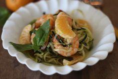 #paleomg #paleo Cold Citrus Shrimp Zoodle Bowl