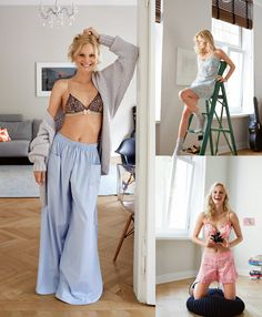 View details for the pattern Breakfast in Bed: 8 Loungewear and Lingerie Patterns on BurdaStyle.Breakfast in Bed: 8 Loungewear and Lingerie Patterns. Maybe pjs are a good first whack at sewing. Lingerie Patterns, Sewing Lingerie, Clothing Patterns, Dress Patterns, Diy Clothing, Sewing Clothes, Woman Clothing, Sewing Patterns Free, Free Sewing