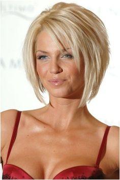 Blonde Layered face framing Bob Haircut