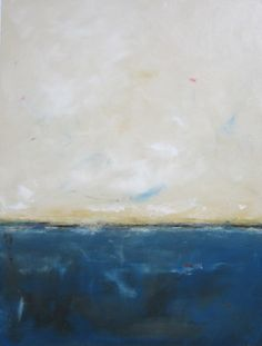 Large Abstract Ocean Seascape Painting Cerulean by lindadonohue, $870.00