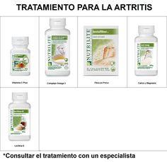 Tratamiento para la Artritis:Vitamina C, Omega 3, fibra en polvo, calcio y lecitina E