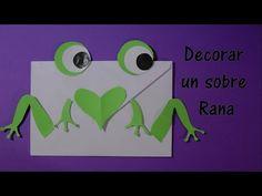 Manualidades: Como decorar un sobre rana - El Mundo de Inma