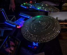 "Built for a customer in China this is the AMT model kit fully lighted and painted as the studio model for ""Star Trek the Next Generation"""