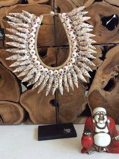 Shell Tribal Art Nekclace by TokoEmporium on Etsy