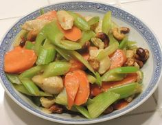 Stir Fry - Celery Carrot with Chicken and Roasted Cashew