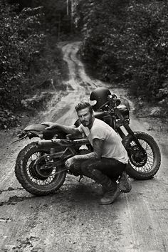 David Beckham with his scrambler - by Anthony Mandler  - via www.murraymitchell.com