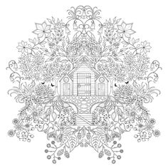 Inspirational coloring pages from Secret Garden, Enchanted Forest and other coloring books for grown-ups. Make your world more colorful with free printable coloring pages from italks. Our free coloring pages for adults and kids. Adult Coloring Pages, Coloring Pages For Grown Ups, Printable Coloring Pages, Colouring Pages, Coloring Sheets, Coloring Books, Doodle Coloring, Mandala Coloring, Free Coloring