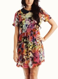 floral collared dress