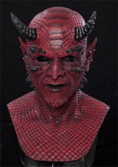 BELIAL THE DEMON (RED) Silicone Halloween Mask