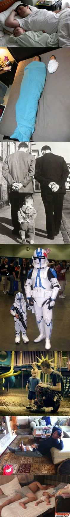 Funny Pictures Like father like son