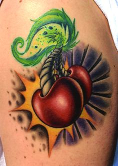 So many different levels of love for this tattoo.  Cha cha cha CHERRY BOMB!
