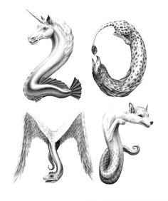 animal letters, some fantasy