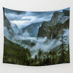Wall Tapestry Yosemite National Park Landscape Wall Tapestries