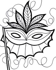 An Ethnic Mardi Gras Mask Coloring Pages