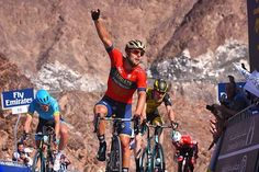 source instagram tdwsport King of the mountain @sonnycolbrelli #winner #celebration #stage4 @dubaitourofficial #cycling @magnuscort @timo_roosen tdwsport 2018/02/10 01:35:08