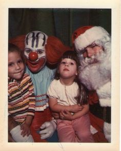 Bozo the Clown with Sketchy Santa