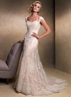 Enticing 2014 New Arrival Style Sweetheart Lace Wedding Dress