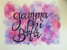 Gamma Phi Beta Watercolor Painting                                                                                                                                                                                 More