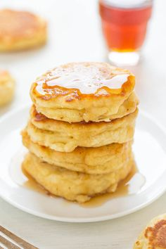 Thick and Fluffy Mini Buttermilk Pancakes - Your search for PERFECT pancakes is over!! EASY, soft, fluffy, light, and the THICKEST pancakes I've ever made thanks to a special TRICK!!