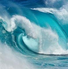 big turquoise wave | beach, ocean & sea . Strand & Meer . plages & mer | @ Scrapbook Photos |