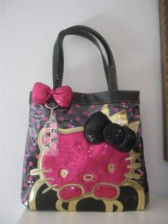 Hello Kitty Lounegfly Tote Bag Purse Bling Bling | eBay