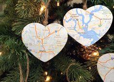 Holiday DIY Map Ornaments