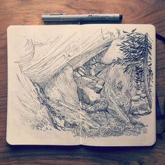 Drawing rocks in the Swiss mountains. #Wallis #Switzerland #mountain…