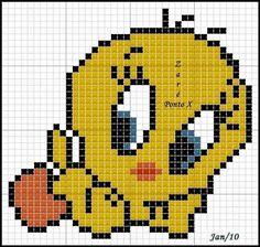 schema punto croce titty   Hobby lavori femminili - ricamo - uncinetto - maglia