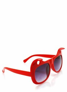 There was some heated debate regarding these sunnies' shape. After all, what were the holes for?