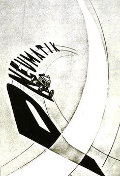 "László Moholy-Nagy | 1926 | Drawing and collage on paper | example of his ""Typophoto"" A combination of word and image produced by mechanical means via his 1927 book, Painting, Photograph, Film 