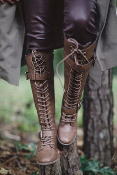 Lace up boots ❤