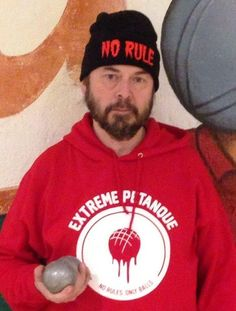 We know where you bought the hoodie but where in the hell did you find that awesome beanie Jonas?!  Thanks for your patience & for the picture!  #NoRulesOnlyBalls // Looking forward to receiving your extreme petanque pictures videos & stories! // #extremepetanque #extremeboules #pétanqueextrème #streetpetanque #urbanpetanque #ultimatepetanque #extremebocce #petanque #petanca #jeuxdeboules #jeudeboules #boules #bocce #bocceball #ball #balls