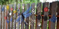 Marie's cobalt garden crafts Dragonfly assemblage