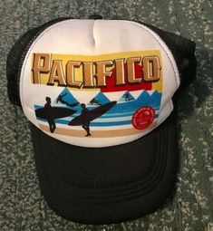 competitive price ffb8e b1a90 Men s VANS US OPEN SURFING 2016 PACIFICO HUNTINGTON Mesh Hat, Snap Strap,  GUC