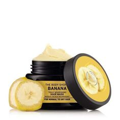 Buy Banana Hair Mask for damaged hair from The Body Shop. Our vegan hair mask leaves locks nourished, looking less frizzy and shinier, without weighing them down. The Body Shop, Body Shop At Home, Coconut Oil Hair Treatment, Coconut Oil Hair Growth, Coconut Oil Hair Mask, Banana Hair Mask, Banana For Hair, Coconut Oil Facial, Coconut Oil For Skin