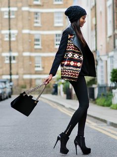 must-have-outfits: great jacket + heels