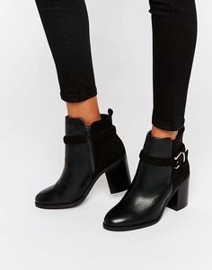Miss+KG+Swift+Buckle+Strap+Heeled+Ankle+Boots