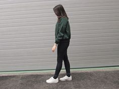 #zeberry #fashion #look #outfit #green #newchic #bomber #jacket #spring #trend #casual #teen #collab